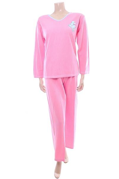 Para mujer de color rosa de pijama juego por texto en inglés mujer tamaño de cada