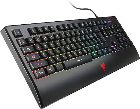 Redimp Gaming Teclado GK100s para PC Mac RGB Retroiluminado ...
