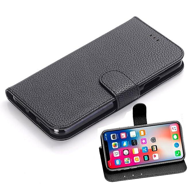 18 opinioni per iPhone X Custodia Pelle, Orlego PU Cover iPhone X Custodia Portafoglio Flip