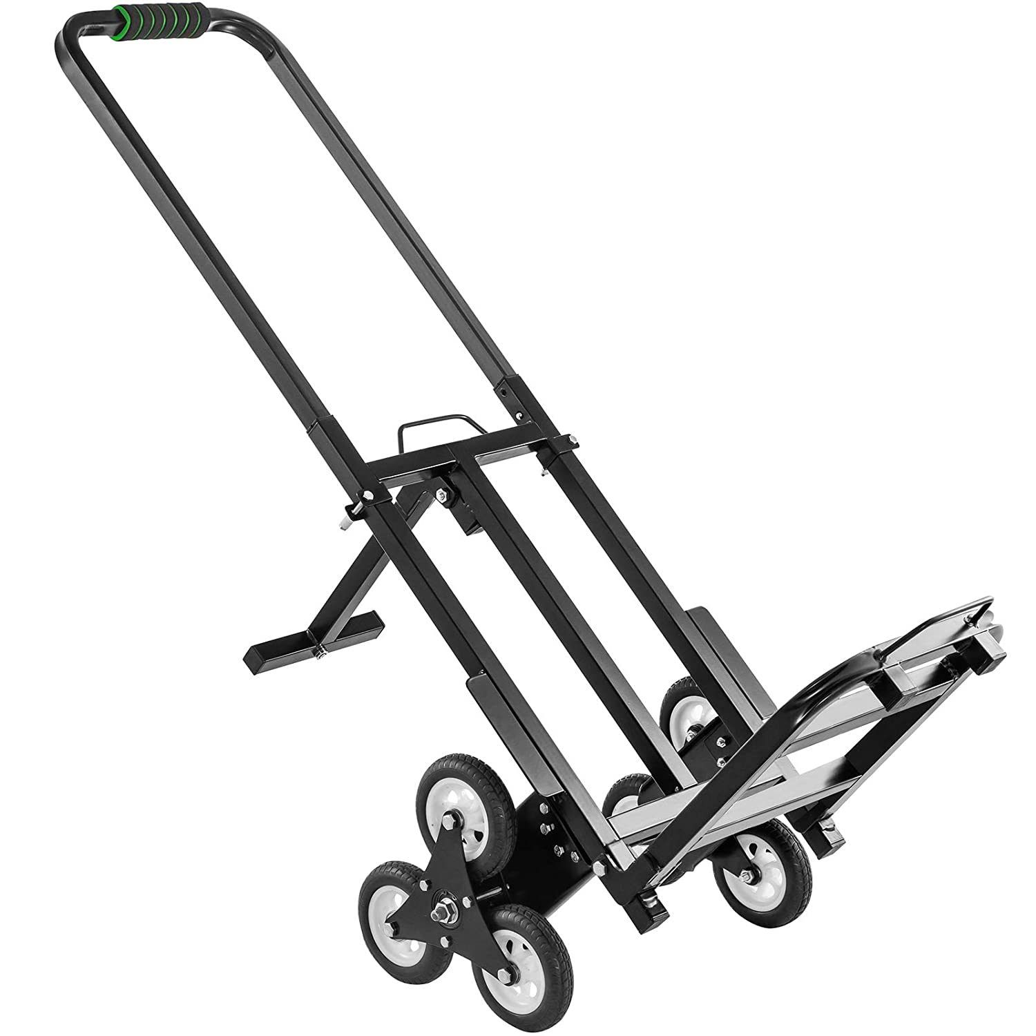 Vevor Stair Climbing Cart Portable Climbing Cart 330 Lb Capacity All Terrain Stair Climbing Hand Truck Folding Stair Hand Truck Heavy Duty With 6 Wheels Black Amazon Com