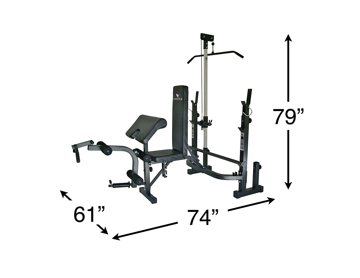 Amazon Com Phoenix 99225 Power Bench Mid Width Adjustable Weight
