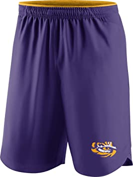 Nike Camiseta de fútbol de Tigres de LSU Morado Vapor Performance Pantalones Cortos