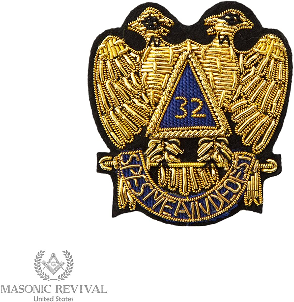 32 Degree Scottish Rite Embroidery Patch by Masonic Revival
