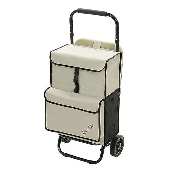 rest-n-roll Deluxe multiusos utilidad Grocery carrito plegable sobre ruedas con asiento integrado: Amazon.es: Hogar