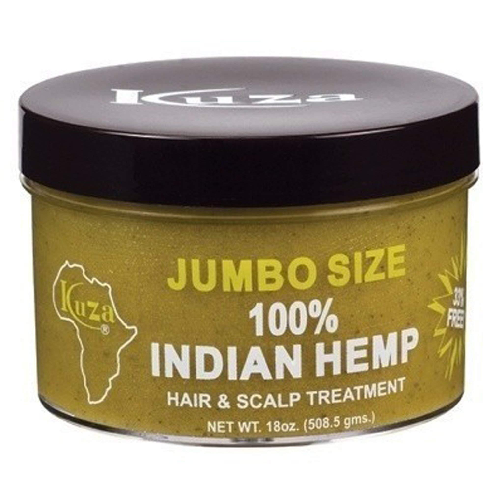 kuza 100 % indian hemp hair and scalp treatment 18 oz