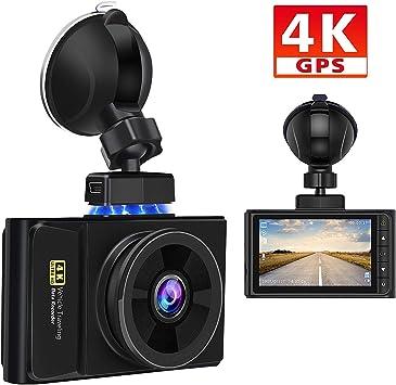 AWESAFE 4K GPS Cámara de Coche Dashcam con Full HD 170 Ángulo ...