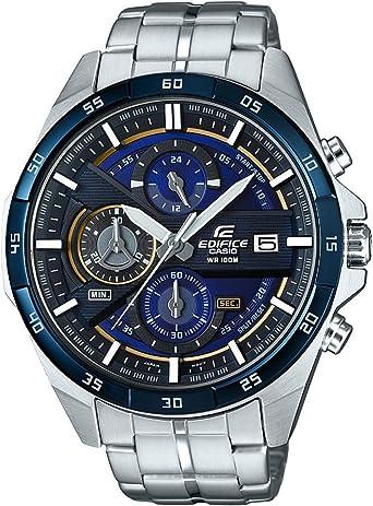 Casio EDIFICE Reloj en caja sólida, 10 BAR, Azul/Negro, para Hombre, con Correa de Acero inoxidable, EFR-556DB-2AVUEF: Amazon.es: Relojes
