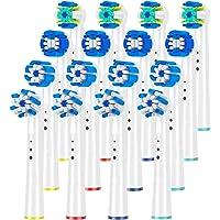 QLEBAO Recambios Cepillo para Braun Oral B, 16 Cepillos para Oral b, 4 Control de la Placa, 4 Precision Clean, 4 Floss, 4 Cross Cabezales de Cepillo de Dientes (Blanco)