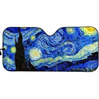 Upetstory Folding Windshield Sun Shade Starry Night Art Design Car Sunshade Cover for Front Window Sun Shield Protector…