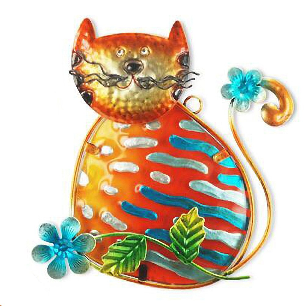 THE WORLD OF ANIMALS Cat wall decoration 21 cm - Blue Tabby