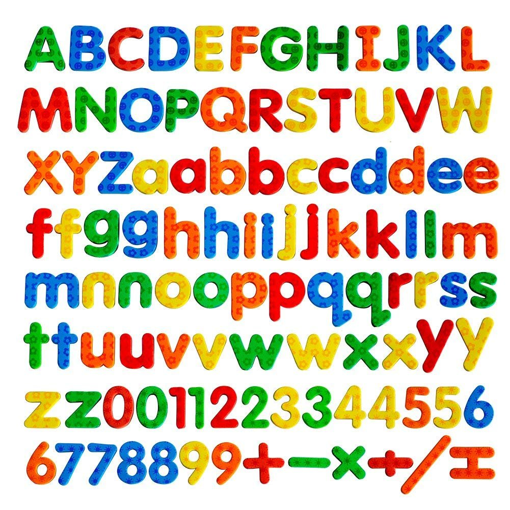 Kadron Magnetic Letters ABC Magnets Education Alphabet Letters and Numbers Fridge Magnets Kids Gifts-104pcs