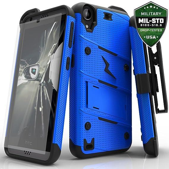 half off 6c21a 1f6ef HTC Desire 530 Case, Zizo [Bolt Series] w/ [HTC Desire 530 Screen  Protector] Kickstand [12 ft. Military Grade Drop Tested] Holster - Desire  550/555