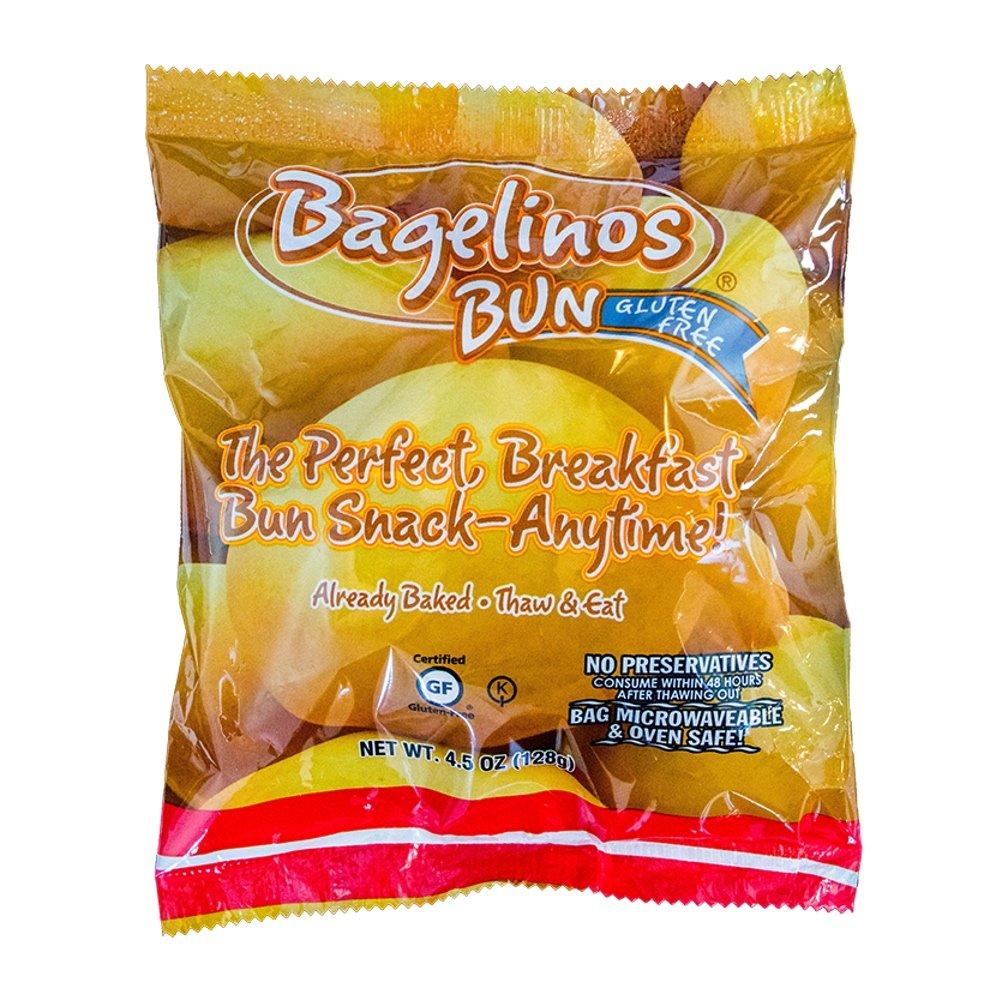 Bagelinos Bun Original, Gluten-Free, 4.5 OZ each, Box of 14 by Bagelinos