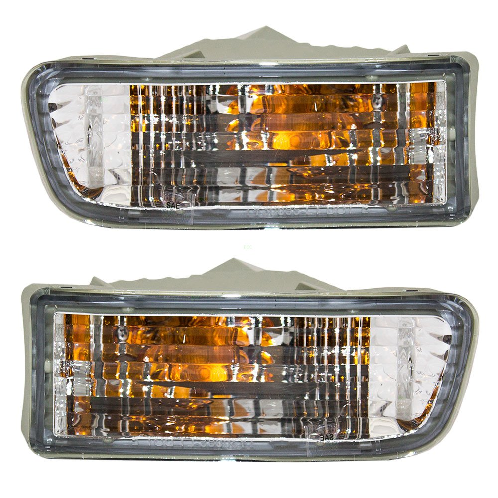 Driver and Passenger Park Signal Front Marker Lights Lamps Lenses Replacement for Toyota SUV 81520-35250 81510-35260