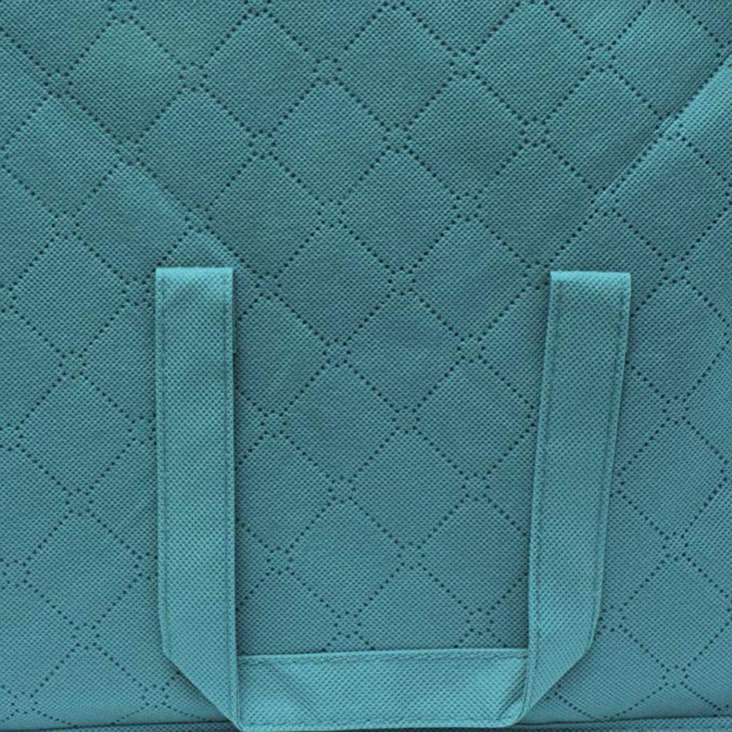 Clothes Blanket Storage Bag Organizer Box Pouch Wardrobe Organizer,Size 24x13x12.2inch Space Saver Bags