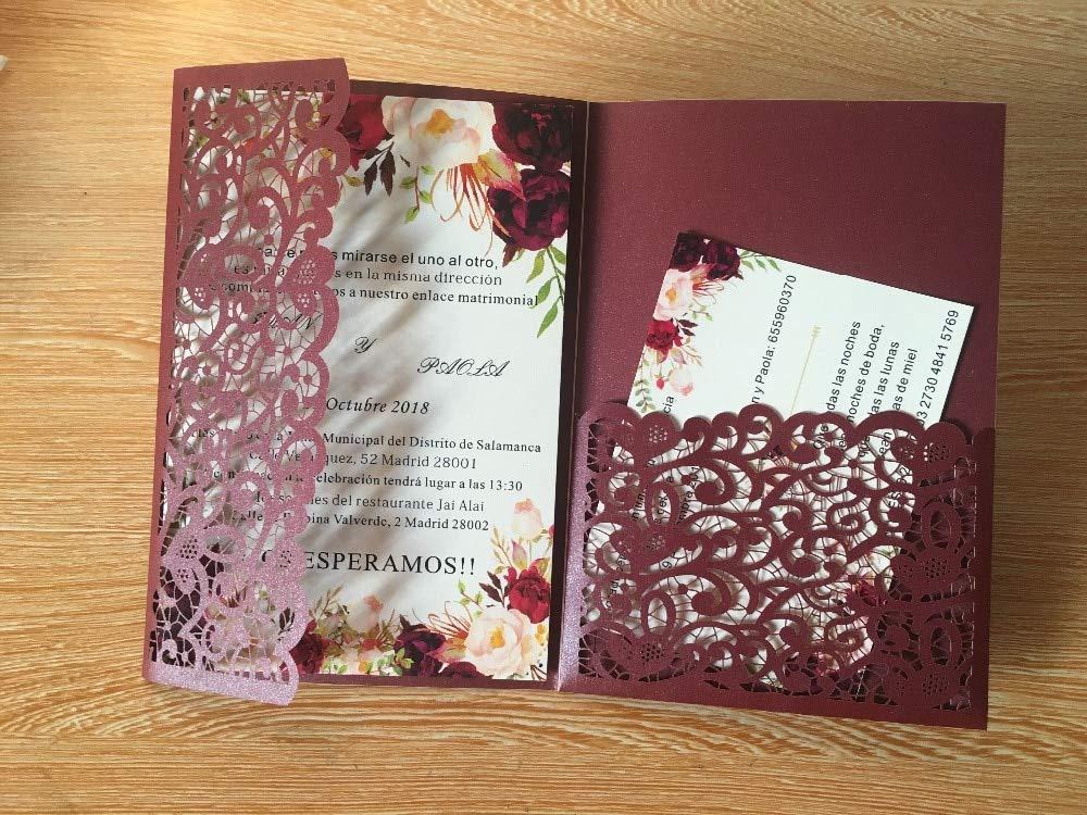 Amazon Com Funnmart 1pcs Sample Graceful Flowers Trifold