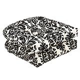 Pillow Perfect Indoor/Outdoor Damask Wicker Seat