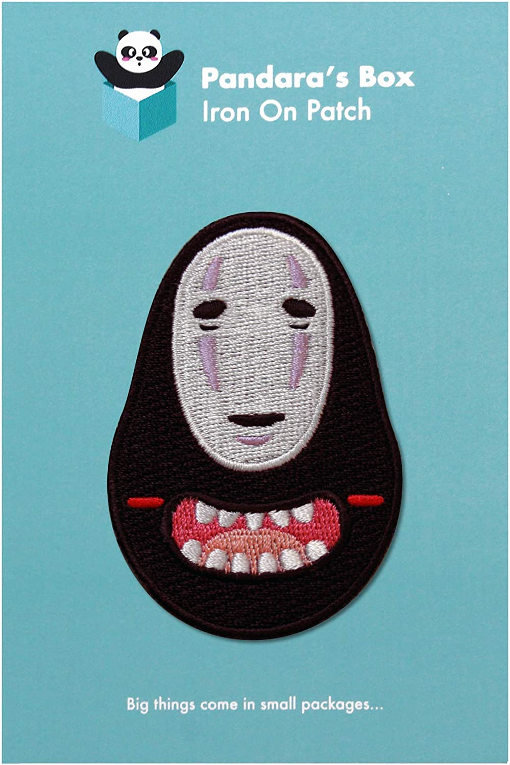 Bags Denim Jackets No Face Patch Iron on /& Sew on Embroidered Japanese Ghost Applique Decoration DIY Craft for Tshirts Hats