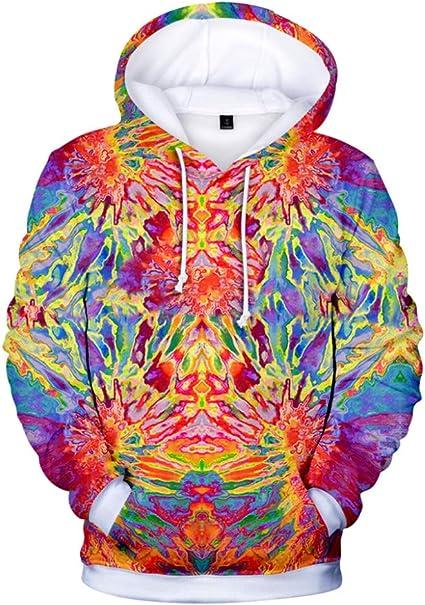 Unisex Women Mens Swirl Print 3D Graphic Hoodie Sweatshirt Coat Pullover Jumper