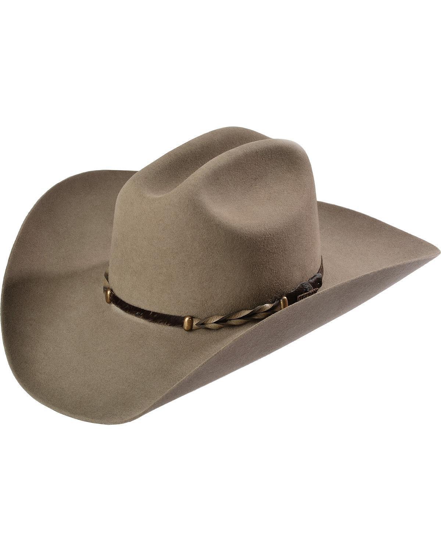 Stetson Men's Stone Portage 4X Buffalo Felt Cowboy Hat Stone 7 1/2