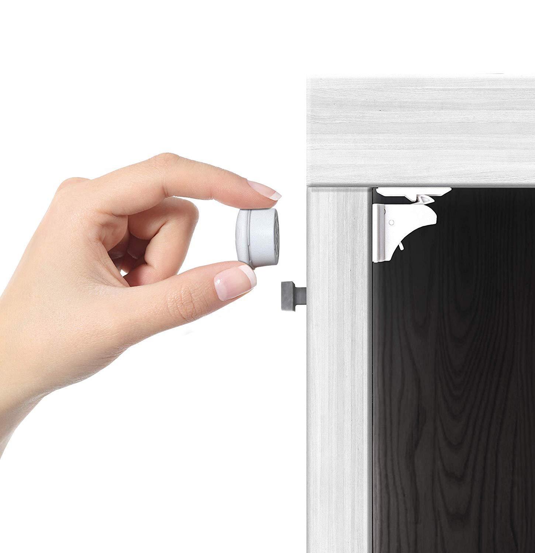 Jambini Magnetic Cabinet Locks - Child Safety Locks - Baby Proofing Cabinets Kit (4 Locks + 1 Key) by Jambini