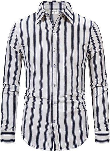Heetey Camisa de manga larga para hombre, diseño informal, de ...