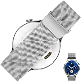 Huawei Watch Band Strap - Rerii Magnetic Closure, Milanese Loop, Mesh Stainless Steel, 18mm Watch Strap, Band for Huawei Watch 2015, Huawei Fit Watch