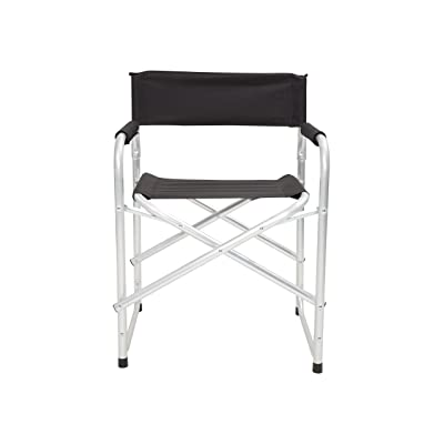 Mountain Warehouse Directeurs légers Chair - pliez, fauteuil léger, armature d'aluminium et tabouret compact de lecture - pour l'été dinant, campant, jardin et pique