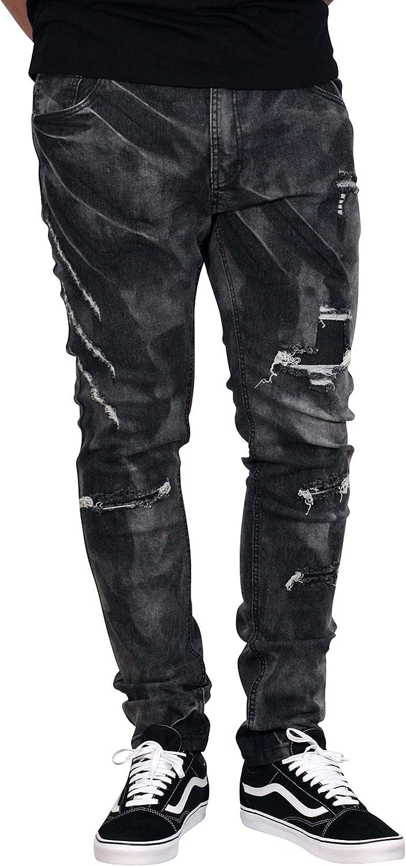 Fubotevic Mens Moto Basic Straight Biker Stretchy Pockets Jeans Long Pants