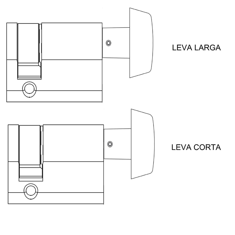 Niquelado 50303030N Llave Leva Larga TE5 Tesa Assa Abloy 30 x 30 mm Cilindro Est/ándar Llave