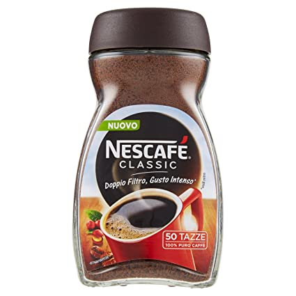 nescaf%C3%A9 classic caff%C3%A8 solubile barattolo 200g  NESCAFÉ CLASSIC Caffè solubile barattolo 100g: : Amazon Pantry
