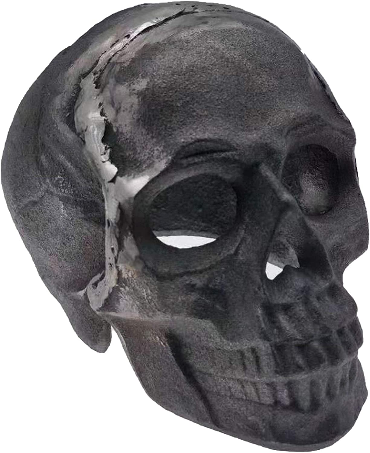 (Fireproof)(Refractory) Imitated Human Skull Gas Log for Indoor or Outdoor Fireplaces, Fire Pits Halloween Decor Skull Charcoal .