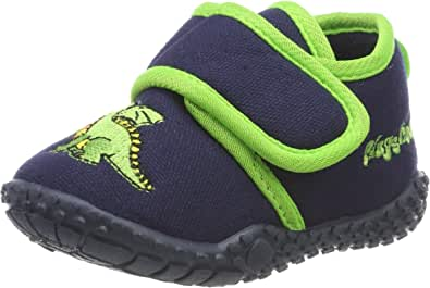 Playshoes Hausschuh Drache, Zapatillas de Estar por casa Niños