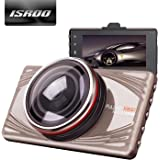 """Dash Cam ISROO Car Camera Recorder 3.0"""" LCD Full HD 1080P Traffic Camcorder 170° Wide Angle Auto DVR with Night Vision Motion Detection G-Sensor Loop Recording Parking Mode"""