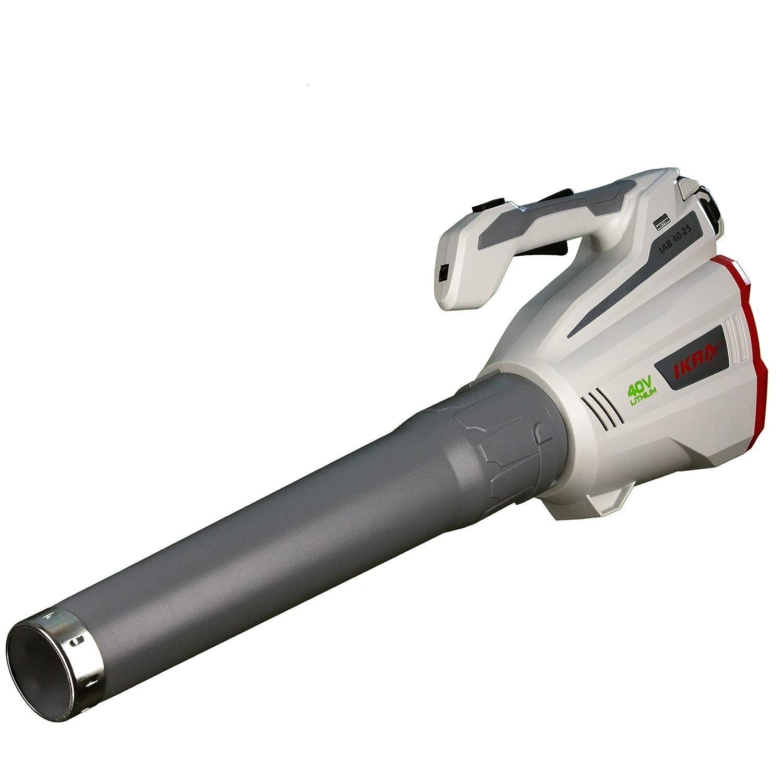 Ikra batería – Soplador de hojas IAB 40-25, ergonómico, velocidad máxima de soplado 320 KM/H, 40 V, duración de iones de litio de hasta 60 minutos.