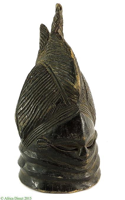 Mende casco máscara sowei Sande sociedad Liberia arte africano