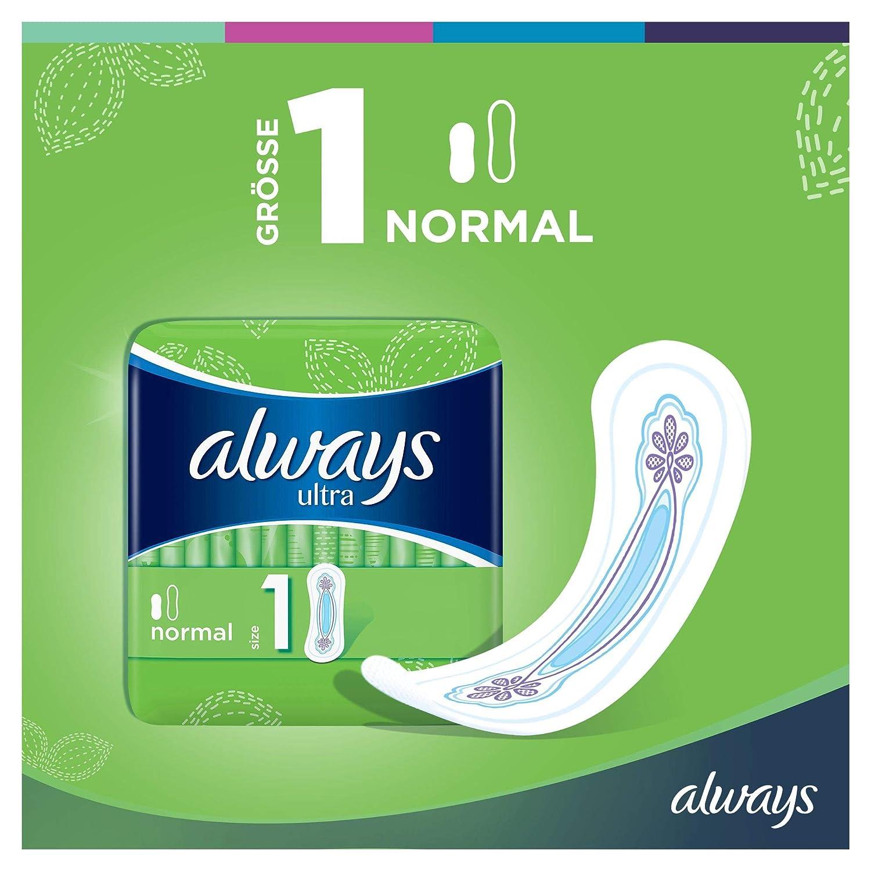 Always Ultra - Toallas sanitarias, normal (tamaño 1), 3 paquetes (132 toallas): Amazon.es: Salud y cuidado personal