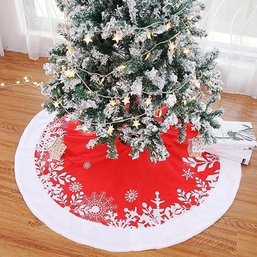 Yizunnu - Falda para árbol de Navidad (122 cm), Color Rojo: Amazon ...