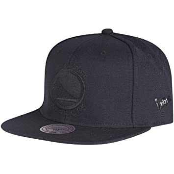 release date: fbb08 0b07b Mitchell   Ness Golden State Warriors Black on Black Snapback NBA Cap