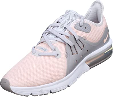 Nike Basket Fille Air Max Sequent 3 Gs 922885 004 RoseGris