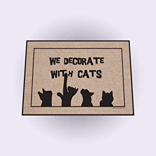 product image for High Cotton We Decorate with Cats Doormat