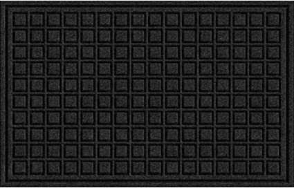 Textures Blocks Entrance Door Mat 18 Inch By 30 Inch Onyx Garden Outdoor