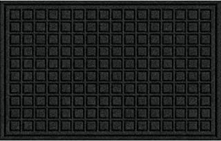 product image for Textures Blocks Entrance Door Mat, 18-Inch by 30-Inch, Onyx