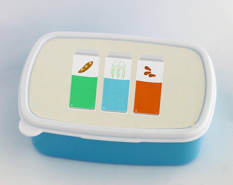 Vegan leche, almendras arroz y soya. azul caja de almuerzo: Amazon ...
