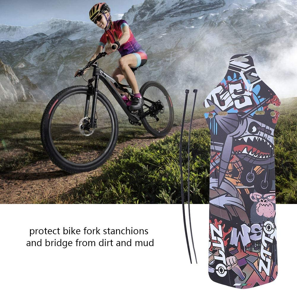 Bicycle Mud Guard Road Mountain Bike Bicycle Fenders with 2 Cable Ties Fit 27.5 Inch Mountain Bike Fenders for Preventing Mud Stain Your Clothes