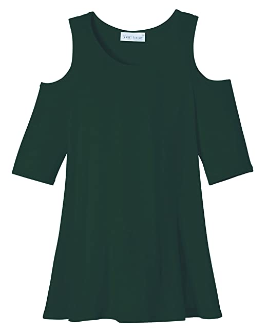 044e40e669e526 Amie Finery Cold Shoulder Tops for Women Open Shoulder Tunic Tops for  Leggings Made in USA