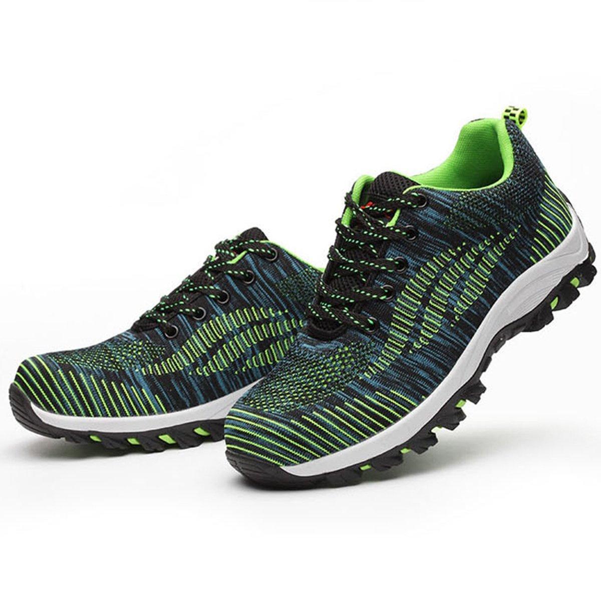 COOU Zapatillas de Seguridad Hombre Trabajo con Puntera de Acero Ligeras S3 Calzado de Trabajo para Comodas Zapatos de Industria y Construcci/ón