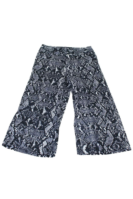 Inc International Concepts Grey Snakeskin-Print Cropped Gaucho Pants