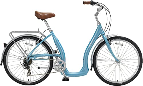 Biria Easy Boarding 7 Speed Step Through Cruiser Bicycle Aqua Blue