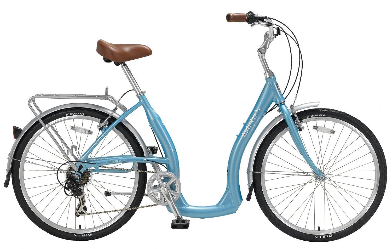Biria Easy Boarding 7 Speed Step Through Cruiser Bicycle Aqua Blue